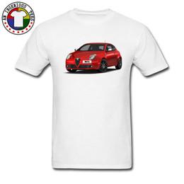 Canada Alfa Romeo Rouge Car Styling T Shirt Pour Hommes 100% Coton Col Rond Jeunesse T-shirts T Shirt Offre