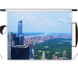2019 cámaras del cielo venta al por mayor de vinilo de poliéster con vistas a la ciudad edificios de gran altura telones de fondo de estudio fotográfico telón de fondo de fotos apoyos