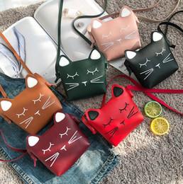 Wholesale Kawaii Fabric - Children Cartoon Handbags Mini Cute Cat Face Bag Girls Lovely Shoulder Bag Kawaii Messenger Bag Kids Present Gift LC787