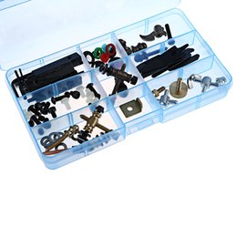 Wholesale Tattoo Machine Boxes - gun lighter 2016 Hot Sale Completed 65 Pcs Tattoo Accessories Parts Kit for Machine Gun Repair Maintenance Supply with Big Box