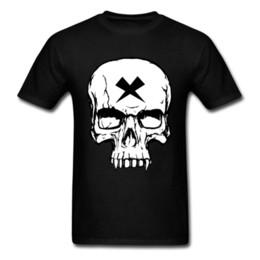 Maglietta del cranio dei ragazzi neri online-T-Shirt Skull 3D Graphic T-Shirt Skull Boys T Shirt nera 2018 Magliette fantastiche maschili personalizzate