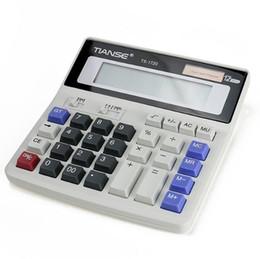Canada 100 pcs / ciel calculatrice solaire 12 ordinateur grand bouton financier multi-fonction étudiant bureau calculatrice électronique mode créative stationnaire Offre