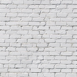 Wholesale Solid Color Vinyl Photography Backdrops - White Brick Wall Photography Backdrop Vinyl Printed Baby Kids Newborn Photo Shoot Wallpaper Props Wedding Party Booth Background