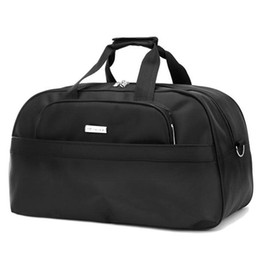 Large Capacity Men Travel Bags 2017 Portable 3 SIZE Weekend Handbags Black  Luggage 30%OFF T309 1a465c8c91ab9