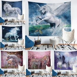 Argentina Venta al por mayor - Unicorn Tapestry Fresco Yoga Toalla de playa Toalla Decoración para el hogar Ropa de playa Baño Tirar Mantón Alfombras Manteles Suministro