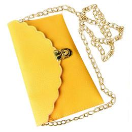 metallketten für handtaschen Rabatt FGGS Hot Damen Handtasche Kunstleder Schultertasche Mode Brieftasche Lange Metall Kette Lady Handtasche