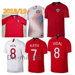 Wholesale Alexis Sanchez - Best Thai quality 2018 2019 World Cup CHILE home away jersey 18 19 Chile soccer jerseys Sanchez ALEXIS VIDAL MEDEL football jersey shirt