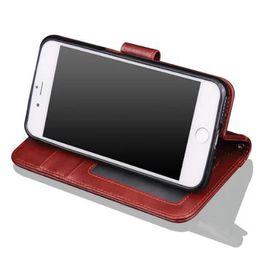 Wholesale future apple iphone - Clearance Sale Retro Flip Stand PU Wallet Leather Case Genuine Leather Case Hybrid Future Armor Case Cover sca443