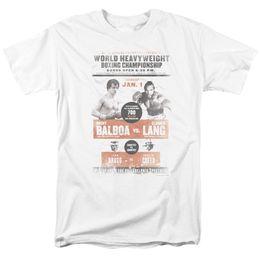 Marca licenciada on-line-Licenciado Rocky Filme Heavyweight Championship Poster Balboa Lang T-Shirt S-3XL Mens 2018 Marca de moda T Shirt O Pescoço