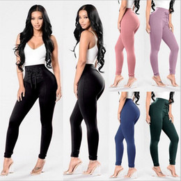sexy party leggings 2018 - 2018 Fashion Sexy Women Pants High Waist Criss Cross Skinny Party Pencil Pants Bandage Trousers Leggings plus size