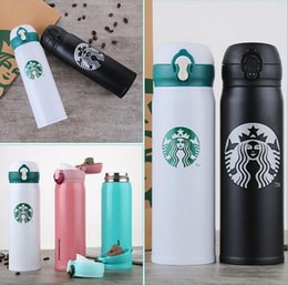 Wholesale Wholesale Starbucks Coffee Mugs - Starbucks Insulation Water Bottle 400ML Stainless Steel Portable Cups Coffee Water Cup Vacuum Cars Beer Mugs 50pcs OOA3944