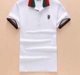 Wholesale tiger design clothes - 2018 Summer High Street Snake Tiger Print Ralph T-shirt Horse Fashion Short Sleeved Polo t Shirts Men tee design clothes