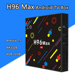 Wholesale max 4g - H96 MAX H2 4G 64G Rockchip RK3328 Android 7.1 TV Box Bluetooth 4K 2.4G 5G Dual Wifi Media Player