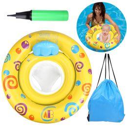 flotador de natación infantil Rebajas Asiento de natación inflable para bebés Piscina flotante Juguete para niños Agua Verano Fiesta Divertido Amarillo