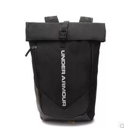 Wholesale birthday plains - Brand Fashion Womens Mens School Bag Outdoor Sport UA Shoulder Bags Travel Stylish Black Backpack Birthday Gift Travelling bag