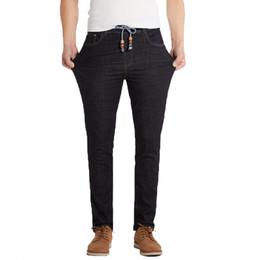 Mens Casual Jean Pantalones Rectos de Algodón de Alta Calidad 2017 Nuevo Tallas grandes Jeans Hombre 40 42 44 46 48 Moda Verano Jean desde fabricantes