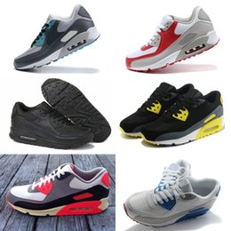 Wholesale Cheap Canvas Shoes For Women - 2018 New Running Shoes For 90 Men Women High Quality Athletic Sport Sneakers Cheap Mens Walking Trainers Shoe Eur 36-46