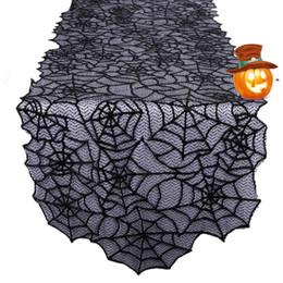 Mantel de encaje de poliéster, Black Spider Web: perfecto para Halloween, cenas y noches de película de miedo para la decoración del hogar desde fabricantes