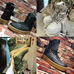Wholesale Force Lights - (with box) 2018 Special Forces shoes Racers 1 One Boots Black Gum Light Brown Mens Womens Sports Athletic Trainers size 36-45