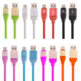 Datos de pin online-Cable TPE Elástico Micro 5 pines Tipo c Cargador rápido Cable de cargador de datos usb para samsung galaxy s6 s7 edge s8 plus letv htc lg teléfono android
