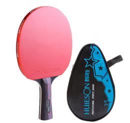 2019 raquetes de tênis de mesa dupla felicidade Ténis de mesa Raquet Backboard bastão de ténis de mesa O produto acabado de um pacote com o punho preto avançado