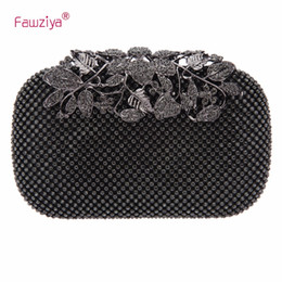 Wholesale purses china - Fawziya Designer Bags China Flower Purses With Rhinestones Crystal Evening Clutch Bags