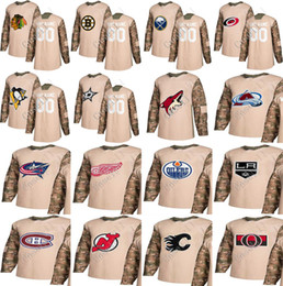 Wholesale Blue Coyote - 2017 Veterans Day Custom Jersey Arizona Coyotes Oilers Penuiges Wings Boston Bruins Montreal Canadiens Chicago Blackhawks Hockey Jerseyw