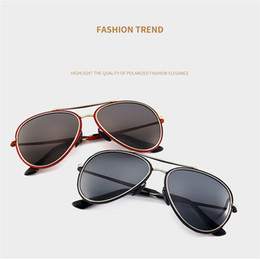 Wholesale Red Sheet Metal - New Fashion Designer Men Sunglasses Metal Sheet Combination Classic Pilots Framework Top Quality Uv 400 Lens Protection Eyewear with Box