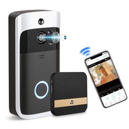 Akıllı Video Kapı Zili HD 720 P Ev Kablosuz Kapı Zili WIFI Video Kapı Zili Güvenlik Kamera Telefon Görsel Interkom Kamera Ile Kapalı Zil cheap phone chimes nereden telefon çanları tedarikçiler