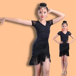 2019 vêtements de danse de salon pour filles 2018 Latin Girls Danse Dress Pour Filles Dancewear Samba Ballroom Danse Ballet Performance Robes Enfants Costume Robe Valse promotion vêtements de danse de salon pour filles