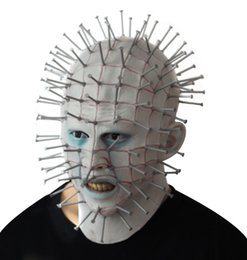 horrible costumes Coupons - Halloween Mens Hellraiser Horrible Mask Theme Costume Accessories Men Scarry Party Stage Cosplay Pranks Headgear Free Shipping