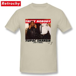 2019 abbigliamento sconti Tupac Oversized Shirt 2Pac Trust Nobody T Shirt Homme T-Shirt Fashion Classic Rapper a maniche corte Tee maschile Sconto Abbigliamento abbigliamento sconti economici
