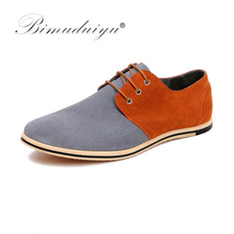 Wholesale formal design leather shoes - BIMUDUIYU New Pattern Big Size 49 Fashion Design Mixed Colors Real Suede Leather Men Casual Shoes Formal Dress Flat Oxford Shoes