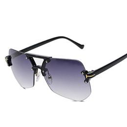 2019 óculos transparentes de grandes dimensões Hexágono Sem Aro Óculos De Sol Das Mulheres Dos Homens Do Vintage Retro Moda Limpar Óculos de Sol Das Senhoras de Grandes Dimensões Shades Eyewear Feminino UV400 óculos transparentes de grandes dimensões barato