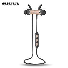 Беспроводные наушники Beseneur Y722 Bluetooth с микрофоном V4.1 шум уменьшение HiFi звуковой эффект для смарт-устройств для мобильного телефона от