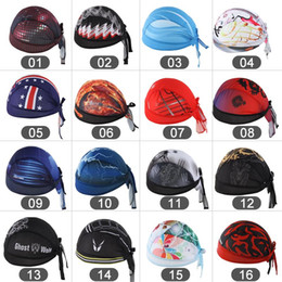 Wholesale bike hats caps - Outdoor Cycling Headbands Dragon & Tiger Bike Bicycle Sports Cap Bandana Hat
