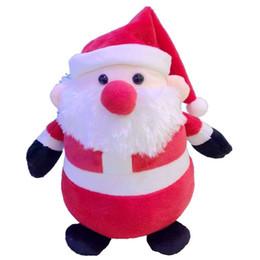 muñecas de santa claus Rebajas Tamaño pequeño lindo Muñeco de peluche de Santa Claus y muñeco de nieve Muñeco de peluche regalo de adorno de Navidad para niños de 25 cm