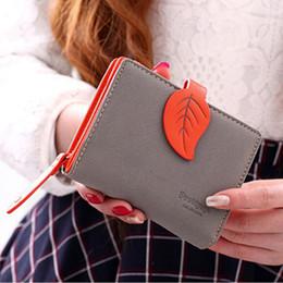 Дизайнер Марка женщины милый лист бумажник маленькая молния девушка бумажник бренд разработан кожа женщины портмоне женский карты держатель бумажник billetera от Поставщики вышитые сумки мобильного телефона