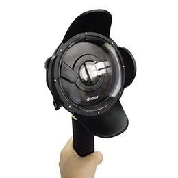 Buceo profesional online-Cúpula portátil Puerto deportivo Actioncamera Lente Carcasa Buceo submarino para Xiaomi / Go pro / SJ Sportscamera con Floaty Bobber