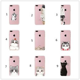 Wholesale iphone 5c s - Cat Phone Case For iPhone X 8 4 4S 5 5S SE 5C 6 6S 7 Plus Silicon For Xiaomi Redmi 4 4A 3S 3 S Note 3 4 5A Pro Prime 4X Mi A1 5X