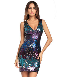 7cf4ff9efe Chinese 2018 Sexy Bra Party Dress Sequin Maxi Dress Sleeveless Hip Wrap  Sequin Dress manufacturers