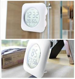 timer remoto digitale Sconti 20pcs orologio da doccia impermeabile orologio digitale da parete da cucina bagno Orologio argento grande temperatura e display di umidità G353