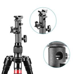 Wholesale umbrella mount flash - New Fashion Metal Camera Accessories Flash Shoe Umbrella Holder Mount Light Stand Tripod For Canon Nikon Camera