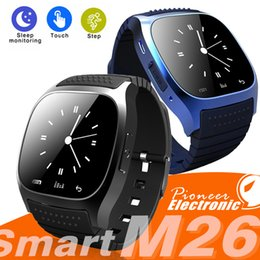 Relógio de pulso sms on-line-M26 Smart Watch Bluetooth impermeável SmartWatches Monitor Monitor SMS relógio de pulso para Android Samsung Kids