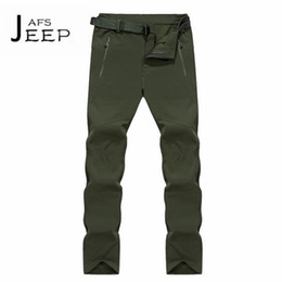 Wholesale Full Thickness - JI PU Thickness intemperie impermeable straight Pant,alpinismo Waterproof Full Length Keep Hot Solid Trousers
