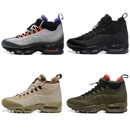 Wholesale waterproof shoes winter men - Brand 95 High Waterproof Running Shoes Men Upper Vapor Sole TOP Quality Designer Sports Sneakers With Double Boxed