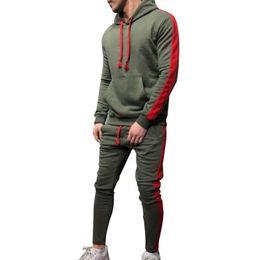 2019 hoodie de dois lados Lado dos homens Puimentiua Listrado Sportswear Treino Outono Patchwork Com Cordão Hoodie Ternos Ocasional Duas Peças Set para Homens desconto hoodie de dois lados