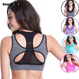 e4b0c80674 New Style Women Yoga Bra Sports Bra for Running Gym Fitness Athletic Bras  Padded Push Up Tops Sport T-shirts Quick Dry For Girls