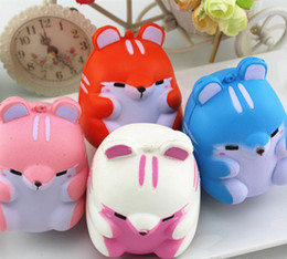 Wholesale Cute Hamsters - Cute Hamster Slow Rising Squishy Toys Scented Squeeze Animal Jumbo Toys Phone Charms Stress Reliever Kids Gift