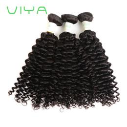 Cheveux espagnols en Ligne-VIYA Cheveux Spanish Curl Malaisienne Extensions de Cheveux 12-24 pouces Bundles 3 Pièces 100% Armure de Cheveux Humains Non Transformés Non Remy Naturel